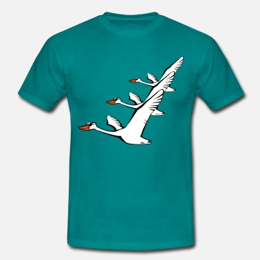 Goose Bird flying goose duck sunglasses formation - Men's T-Shirt