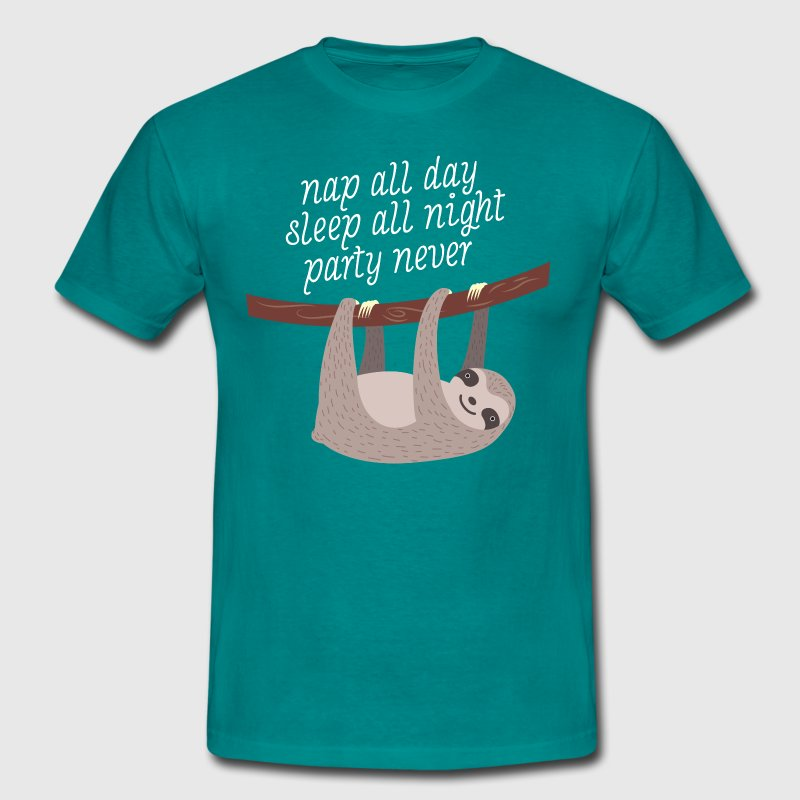 Nap All Day, Sleep All Night, Party Never - Camiseta hombre