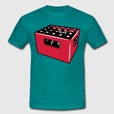 Beer drinking booze box - Men's T-Shirt