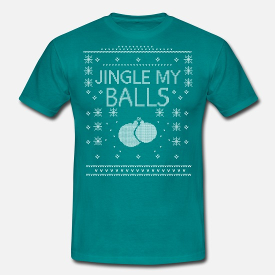 Jingle T-Shirts - Jingle My Balls Funny Christmas Parody - Men's T-Shirt diva blue