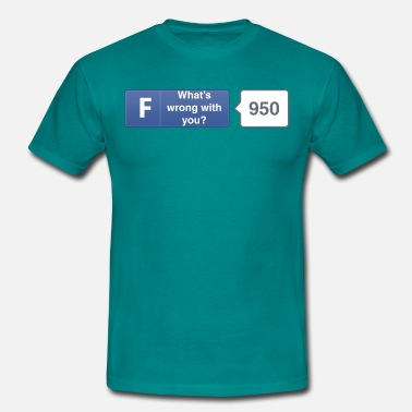 Fb FB button - Wrong - Men's T-Shirt