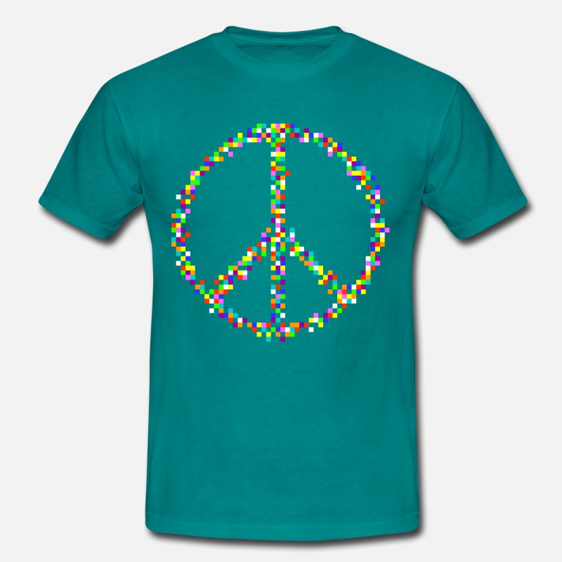 Retro T-Shirts - A Peace of Retro - Men's T-Shirt diva blue