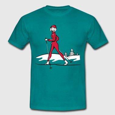 Winter Vacation Winter vacation skilanglauf sport - Men's T-Shirt