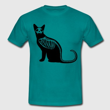 Gothic cat skeleton - Men's T-Shirt