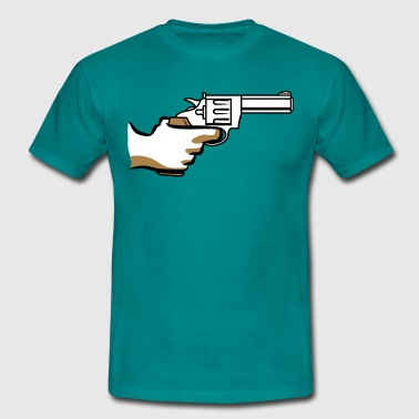 Weapons threaten gun revolver - Men's T-Shirt