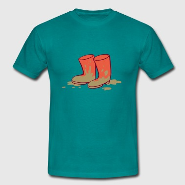 Muddy Boots - Men's T-Shirt