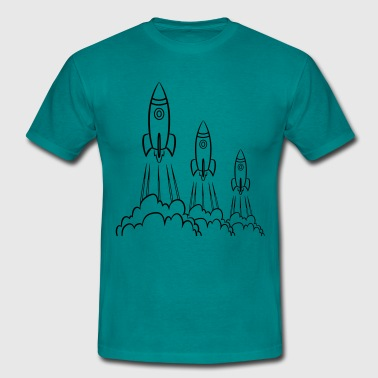 rocket launching - Men's T-Shirt