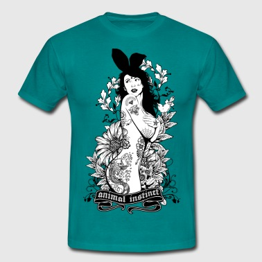 Tattooed Bunny Girl - Animal Instinct - Männer T-Shirt