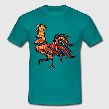 Cock Rooster Rooster crow design - Men's T-Shirt