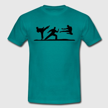 Martial Arts - 3 Fighters - Men's T-Shirt