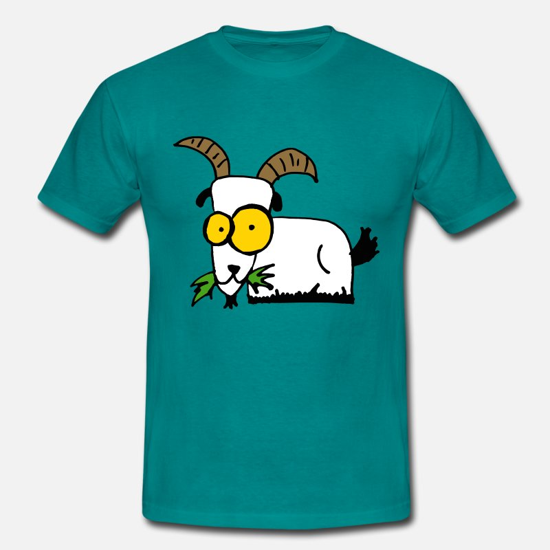 Agriculture T-shirts - Freaky goat - T-shirt Homme bleu diva