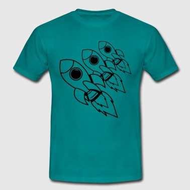 rockets flying space travel - Men's T-Shirt