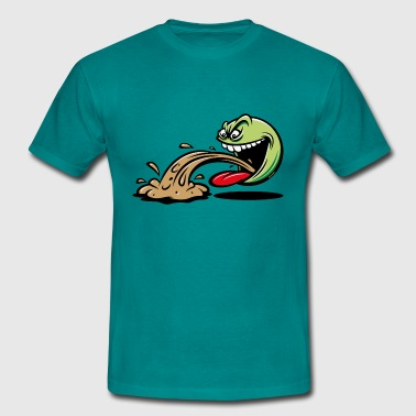 Barfing Guy Emoticon (PNG) - Men's T-Shirt
