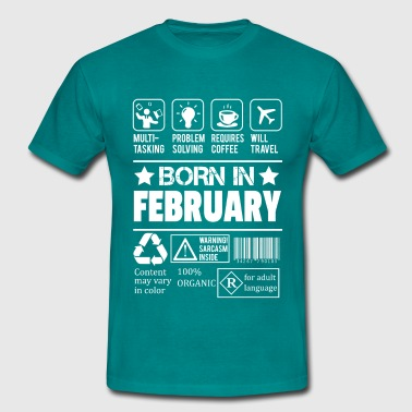 Born In February - Men's T-Shirt