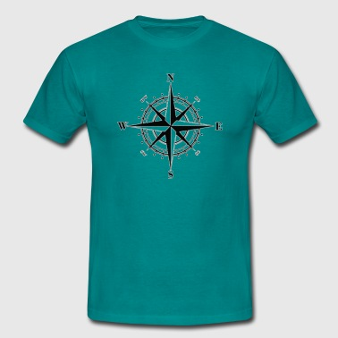 Windrose with direction - Men's T-Shirt