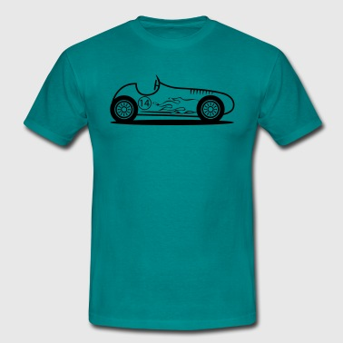 Boys Racing Race Car Kids Boys - Men's T-Shirt