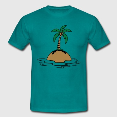 Island holiday palms - Men's T-Shirt