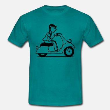 Driving Licence Scooter driving young - Men's T-Shirt