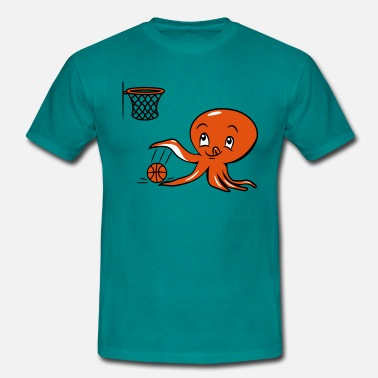 Funny Basketball Squid oktopus funny funny basketball - Men's T-Shirt