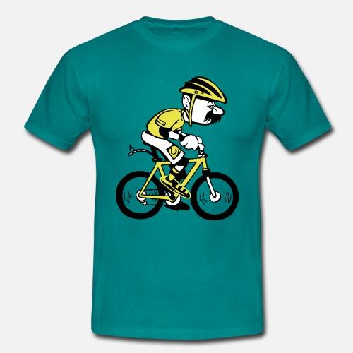 Uomo bicicletta cartone animato divertente di motiv lady