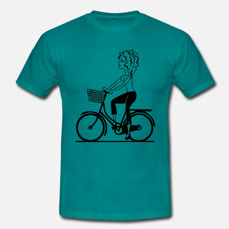 Cykling T-shirts - Bike shop flicka - Standard-T-shirt herr divablå