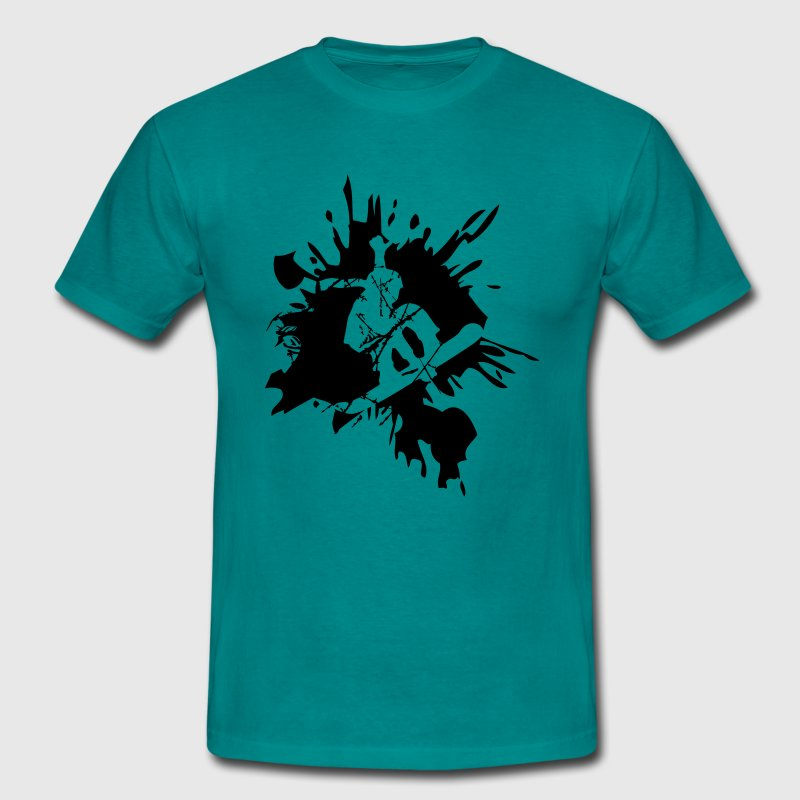 snowboard graffiti logo design cool stunt color - Men's T-Shirt