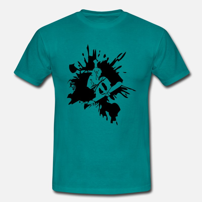 Board T-Shirts - snowboard graffiti logo design cool stunt color - Men's T-Shirt diva blue