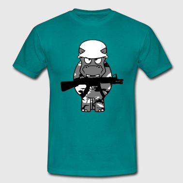 Kill Army war, soldier, kill weapon gun army army shoot thic - Men's T-Shirt