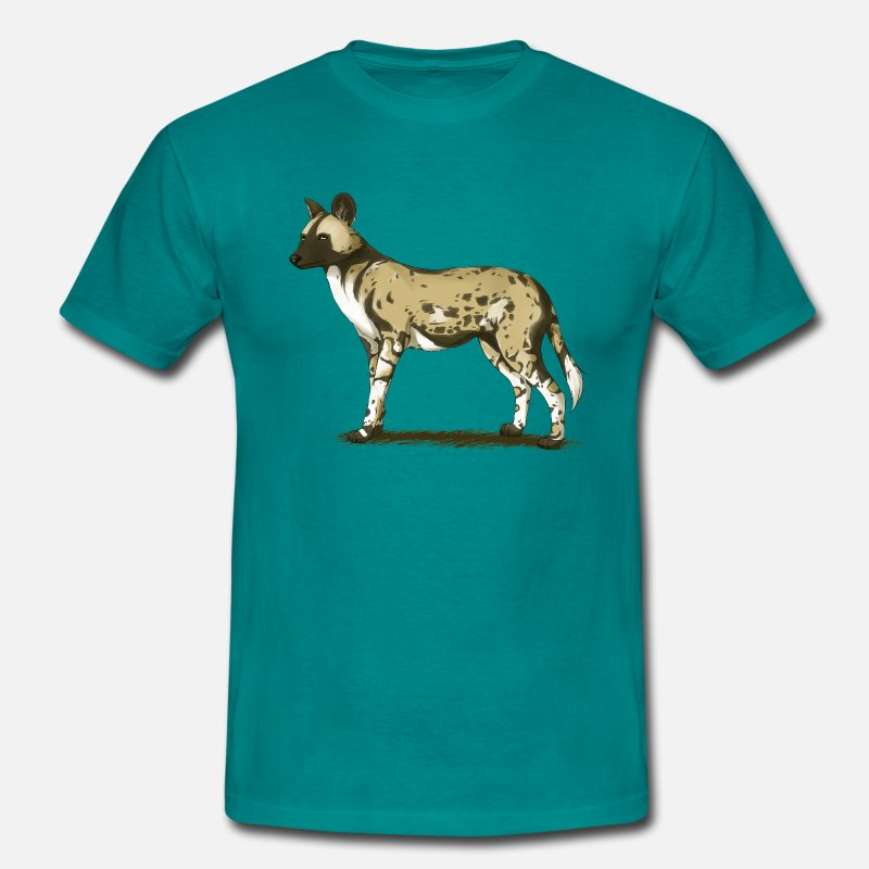 Wild T-Shirts - African wild dog - Men's T-Shirt diva blue