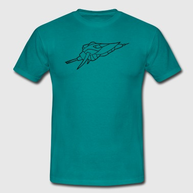 cool spaceship space space aliens aliens - Men's T-Shirt