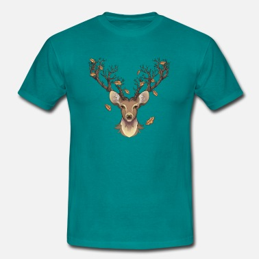 Stag Symbol Stag in the fall - Men's T-Shirt