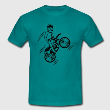 Terrain motorcycle motocross skull - Men's T-Shirt