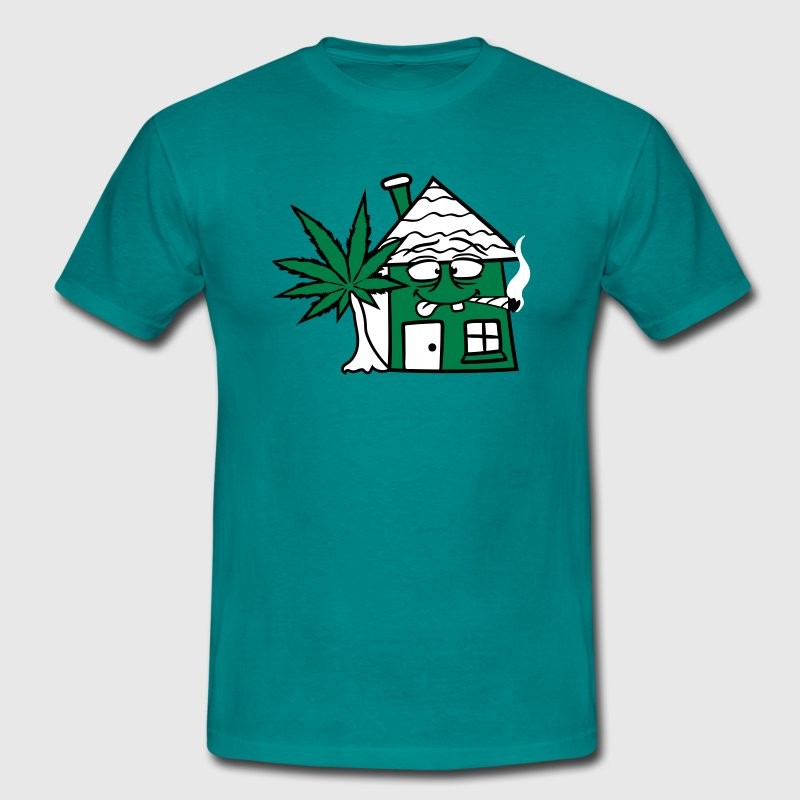 weed weed smoke cannabis joint stoned stoned grass - Men's T-Shirt