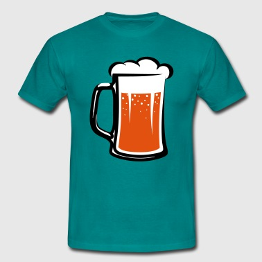 Boozing Beer drinking beer booze handle - Men's T-Shirt