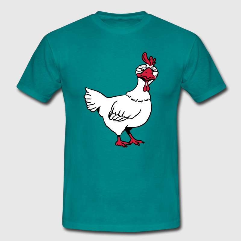 Angry chicken - Men's T-Shirt