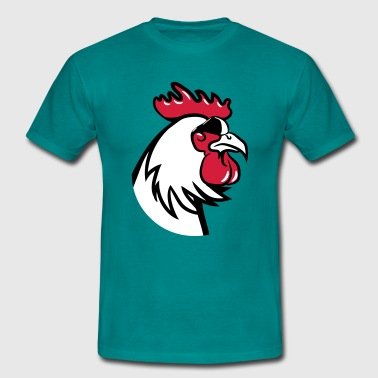 Rooster Rooster angry dangerous sunglasses - Men's T-Shirt