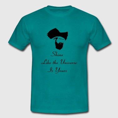 Cool Rumi Quote Silhouette & Hirsute Writers Poet - Men's T-Shirt