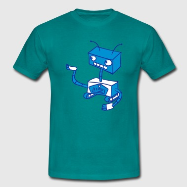 Android robots keep sweet small show cute - Men's T-Shirt