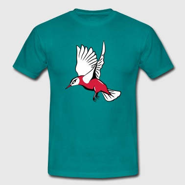 fluttering bird flying - Men's T-Shirt