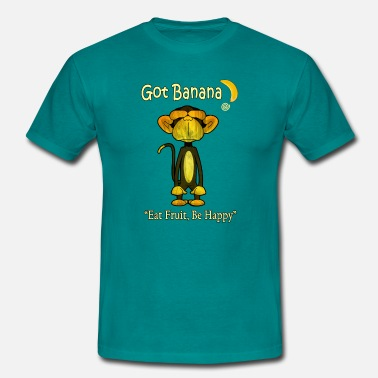 Vegan Happy Monkey - Men's T-Shirt