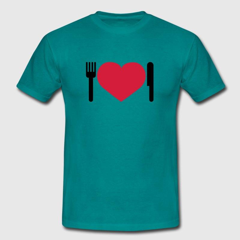 Aqua Essen herz essen herz dinner by shirtrecycler spreadshirt