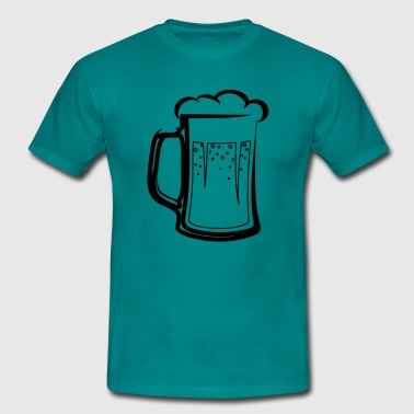 drinking beer booze handle - Men's T-Shirt