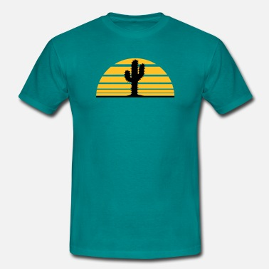Cactus cactus, lignes desert sunset strip levers - T-shirt Homme