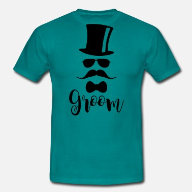 Hipster Stag Night Party Team Groom Bachelor Party JGA Bräutigam Jungeselle - Men's T-Shirt