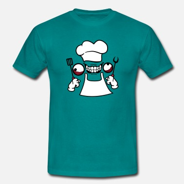 Bbq Chef eat delicious grilling chef grillmeister bbq  - Men's T-Shirt