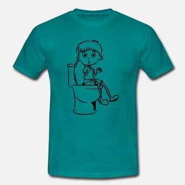 Piss Wc Sitting little boy wc - Men's T-Shirt
