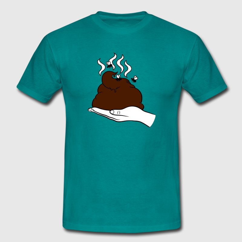 Hold hand fly stink shit poop heap excrement odd p - Men's T-Shirt