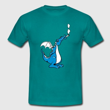 Dragon roken grappig wiet joint - Mannen T-shirt