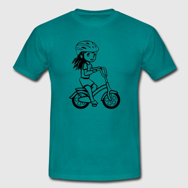 Children's bike girl bike, play fun - Men's T-Shirt