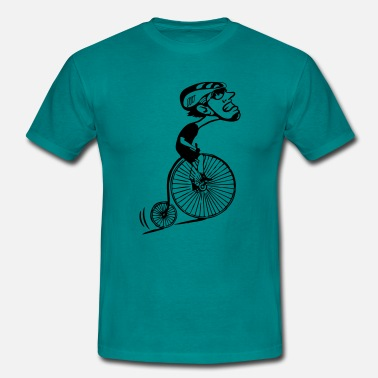 Bicyclette Montée humoristique de la bicyclette oldtimer - Men's T-Shirt